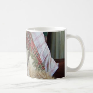 Cairn Terrier on Leather Seat Mug