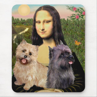 Cairn Terrier Pair - Mona Lisa Mouse Pad