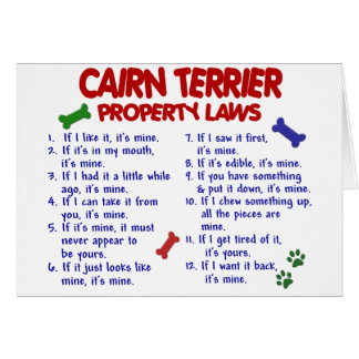 CAIRN TERRIER Property Laws 2 Card