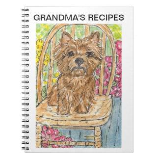 Cairn terrier recipe book grandma personalise  mum