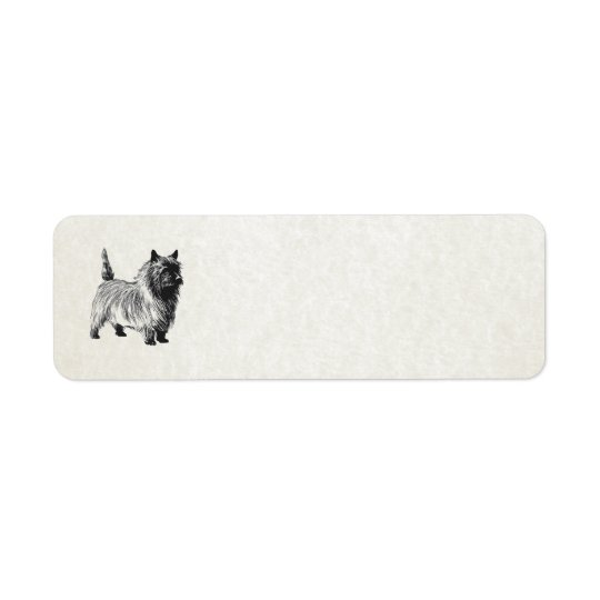 cairn terrier return address label