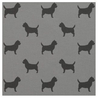 Cairn Terrier Silhouettes Pattern Fabric