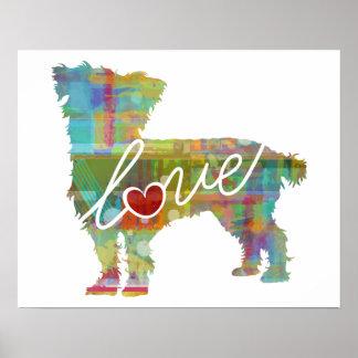 Cairn Terrier Watercolor Poster