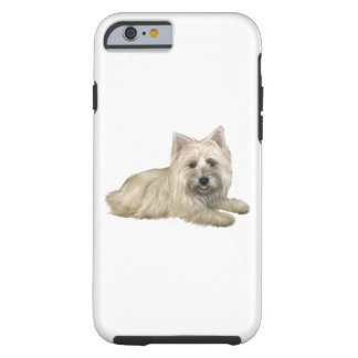 Cairn Terrier (Wheaten) - lying down Tough iPhone 6 Case