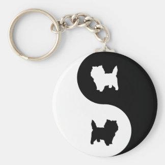 Cairn Terrier Yin Yang Keychain