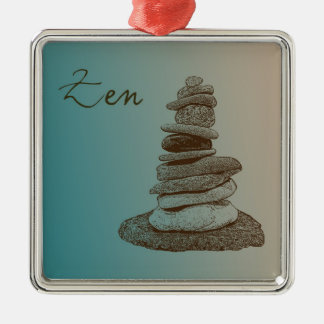 Cairn Zen Christmas Ornament