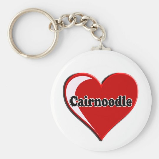 Cairnoodle on Heart for dog lovers Key Ring