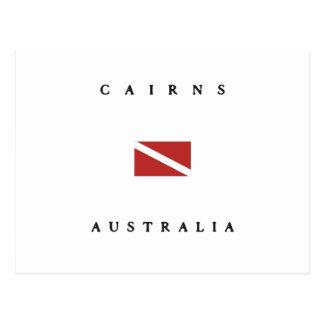 Cairns Australia Scuba Dive Flag Postcard