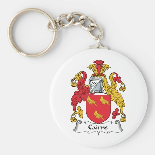 Cairns Family Crest Basic Round Button Key Ring