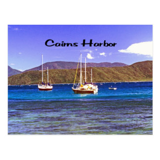 Cairns Harbor Queensland Australia Postcard