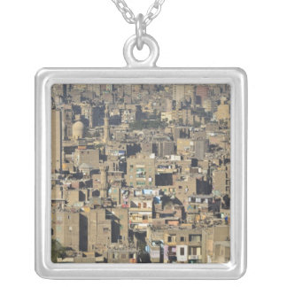 Cairo Cityscape Silver Plated Necklace