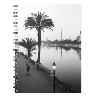 Cairo Egypt, Along the Nile River Spiral Note Book