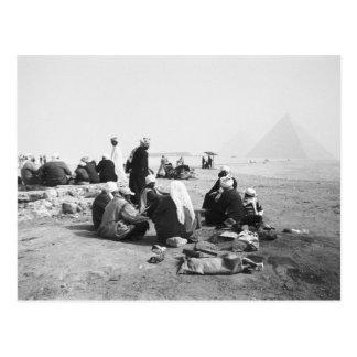 Cairo Egypt, Camel Jockeys Giza Pyramids (NR) 2 Postcard