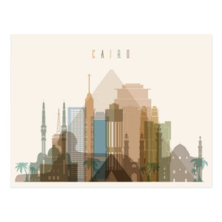 Cairo, Egypt | City Skyline Postcard