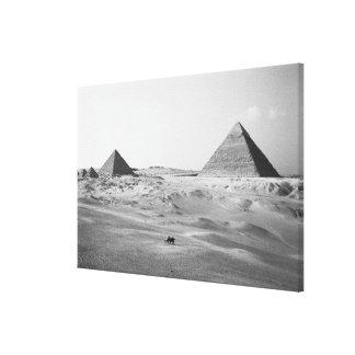 Cairo Egypt, Giza Pyramids Canvas Print