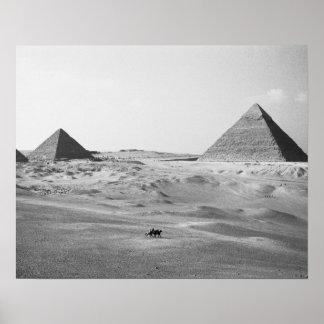 Cairo Egypt, Giza Pyramids Poster