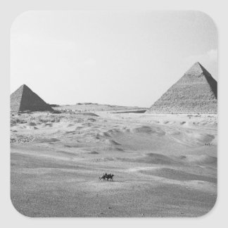 Cairo Egypt, Giza Pyramids Square Sticker