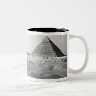 Cairo Egypt, Giza Pyramids Two-Tone Coffee Mug
