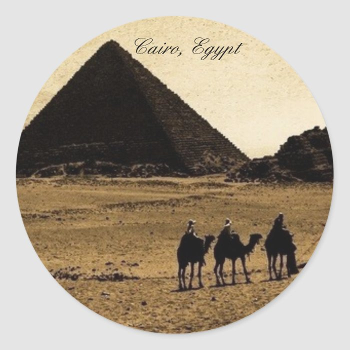 Cairo, Egypt Round Sticker