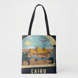 Cairo Egypt Vintage Image travel Vacation Tote Bag