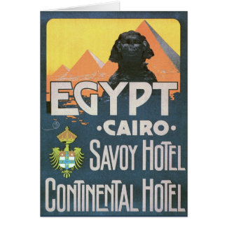 Cairo Egypt - Vintage travel poster art Card