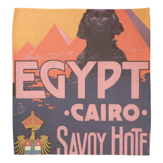 Cairo Egypt Vintage Travel Poster Bandanas