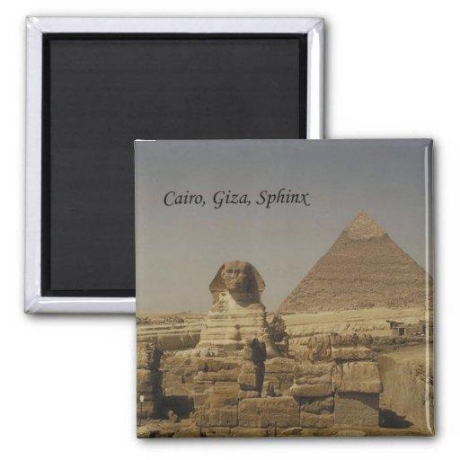 Cairo, Giza, The Sphinx (St.K.) Fridge Magnets