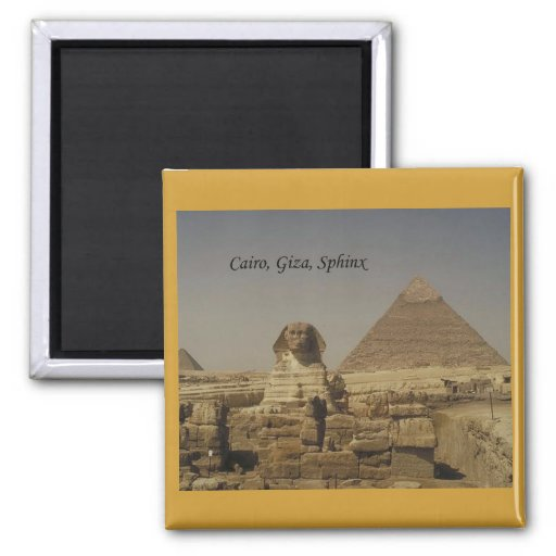 Cairo, Giza, The Sphinx (St.K.) Refrigerator Magnets