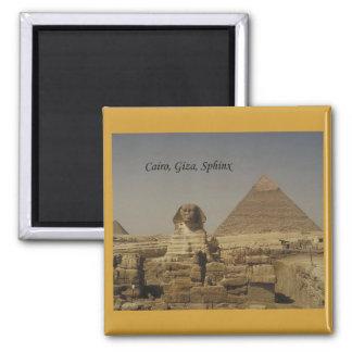 Cairo, Giza, The Sphinx (St.K.) Square Magnet