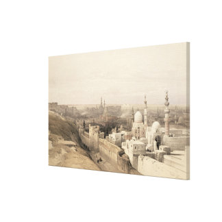 "Cairo looking West, from ""Egypt and Nubia"", Vol.3 Canvas Print"
