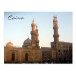 cairo mosque minarets postcard