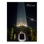 cairo tower bird postcard