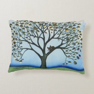 Cairo Whimsical Cat in Tree Decorative Cushion