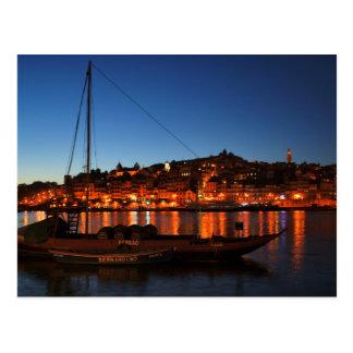 Cais da Ribeira of Oporto, Portugal Postcard