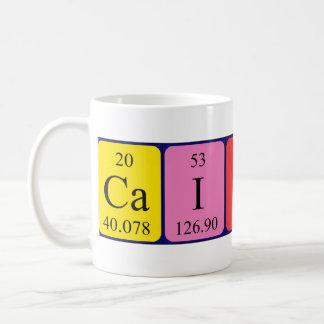 Caitlin periodic table name mug
