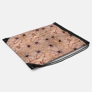 Cajal's Beautiful Neurons C Drawstring Bag