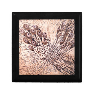 Cajal's Neurons 1 Small Square Gift Box
