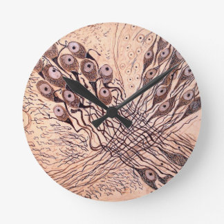 Cajal's Neurons 1 Round Clock