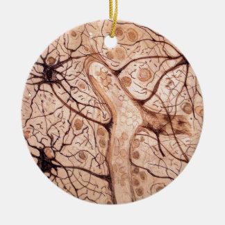 Cajal's Neurons 3 Christmas Ornament