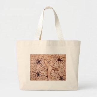 Cajal's Neurons 3 Large Tote Bag