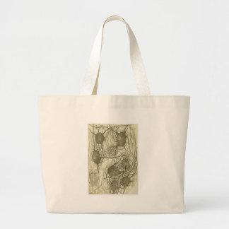 Cajal's neurons 6 large tote bag