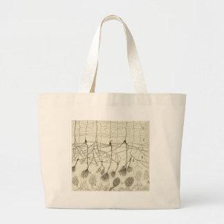 Cajal's Neurons 8 Large Tote Bag