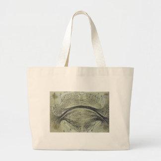Cajal's spinal neurons - 5 large tote bag