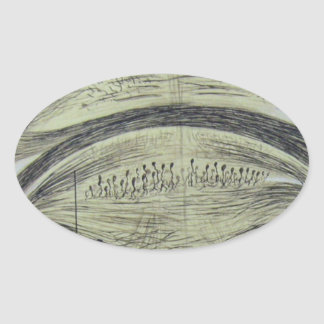 Cajal's spinal neurons - 5 oval sticker