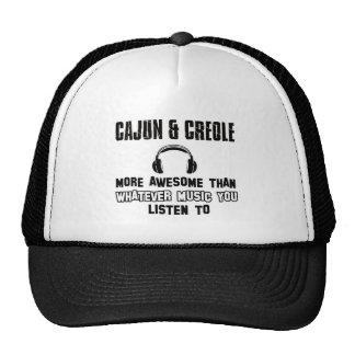 cajun and creole design mesh hats