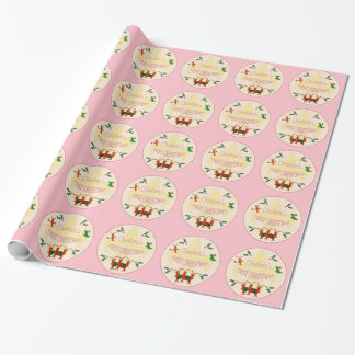 Cajun Baby Girl First Christmas Wrapping Paper
