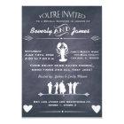 Cajun Cookin Bridal Shower Chalkboard Design Card