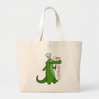 cajun_cooking large tote bag
