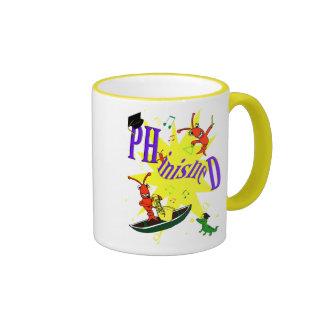 "Cajun Crawfish PH.d. ""Phinished"" Ringer Coffee Mug"