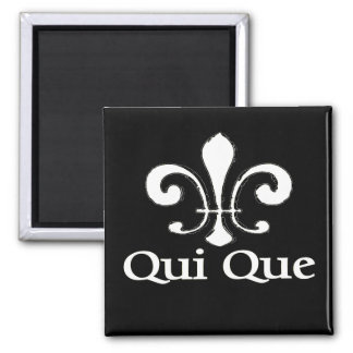 Cajun French Who Dat Square Magnet